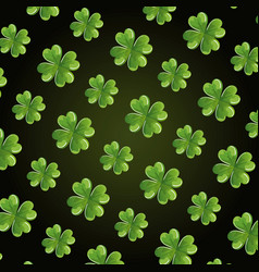 st patrick clovers leafs pattern vector image