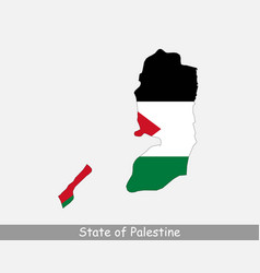 State palestine map flag vector