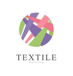 textile original logo badge for yarn shop craft vector image