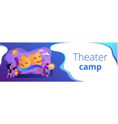 Theater camp concept banner header vector
