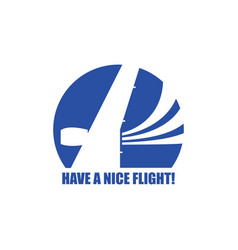 travel airplane logo template vector image