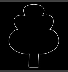 Tree the white path icon vector