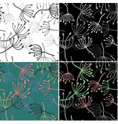 Vintage card for wallpaper design seamless floral vector