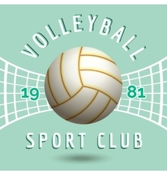 Volleyball sport team emblem vector image
