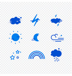weather widget and icons vector image