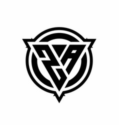 za logo with triangle shape and circle vector image
