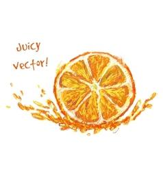 drawing slice of orange vector image vector image