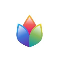 flower logo lotus colorful symbol health yoga icon vector image vector image