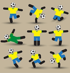 Football players silhouettes Use for soccer sport vector image vector image