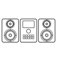 Music center icon vector image vector image