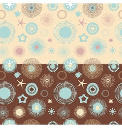 Set of 2 seamless abstract floral patterns vector image