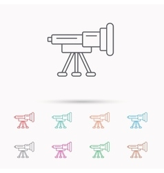 Telescope icon Spyglass sign vector image vector image