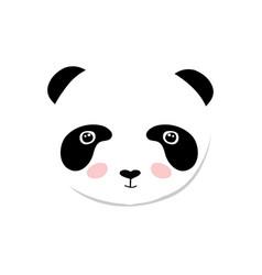 baby panda bear of cute baby vector image vector image