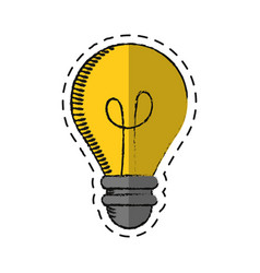 cartoon bulb light creativity innovation vector image