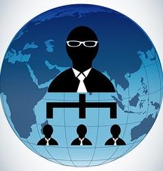 Teamwork people globe vector image