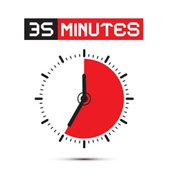 Thirty Five Minutes Stop Watch - Clock vector image vector image