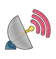 antenna and wifi design vector image