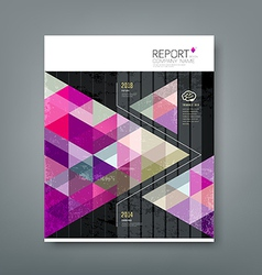 Cover report triangle geometry purple vector image vector image