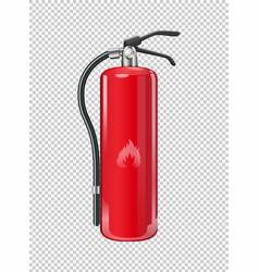 Fire extinguisher on transparent background vector