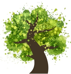 Grunge colorful tree vector image vector image
