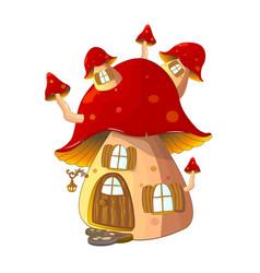 mushroom house fabulous vector image