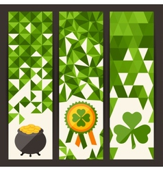 Saint Patricks Day vertical banners vector image vector image