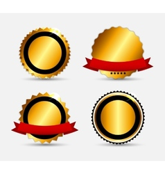 Set of Gold Label Template vector image