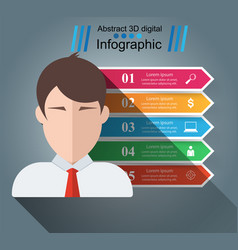 avatar man people - business paper infographic vector image
