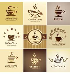 coffee icons big set vector image
