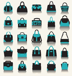 fashion bags Women handbags and business case vector image vector image