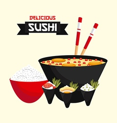 japanese food design eps10 graphic vector image