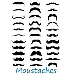 Moustache icons set vector image