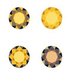 Set of gold diamonds vector image vector image