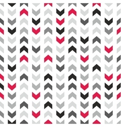 Tile pattern with grey and black arrows vector image vector image