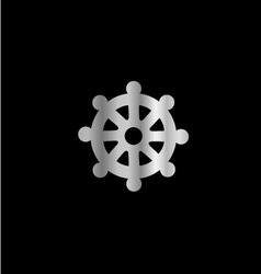 Wheel of Dharma- Symbol Buddhism vector image vector image