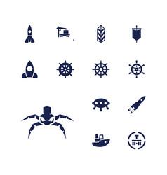 13 ship icons vector