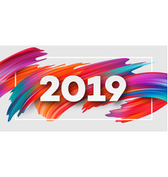 2019 new year on the background of a colorful vector