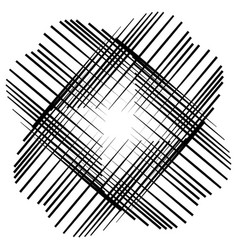 Abstract cross element made of pointed lines x vector