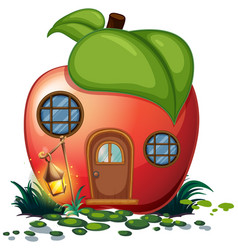 Apple house with lantern vector