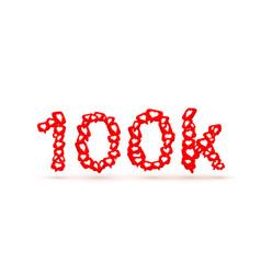 banner fly like social network 100k white vector image