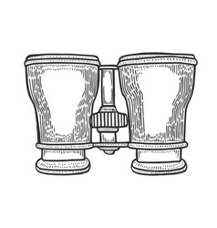 binocular drawing vector image