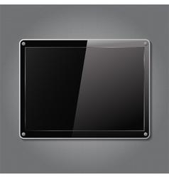 Black plate vector