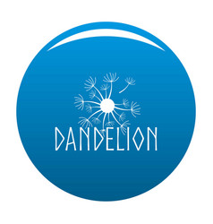 Blooming dandelion logo icon blue vector