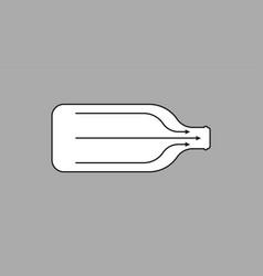 Bottleneck bottle arrows for direction liquid vector