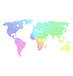 Bright world map vector