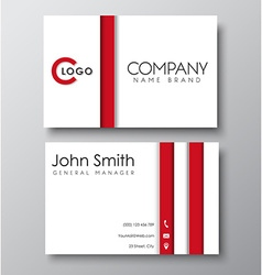 Business card white template in the style of the vector image