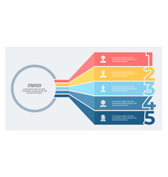 Business infographic chart with 5 number options vector