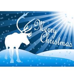 Caribou reindeer Christmas theme vector