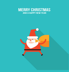 ccute santa claus with presents and christmas vector image
