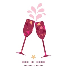 christmas decorations flags toasting wine glasses vector image